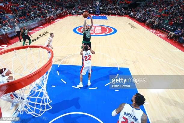 Daniel Theis of the Boston Celtics shoots the ball against the Detroit Pistons on December 10 2017 at Little Caesars Arena in Detroit Michigan NOTE...