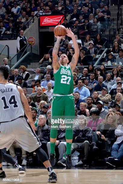 Daniel Theis of the Boston Celtics shoots the ball against the San Antonio Spurs on December 8 2017 at the ATT Center in San Antonio Texas NOTE TO...
