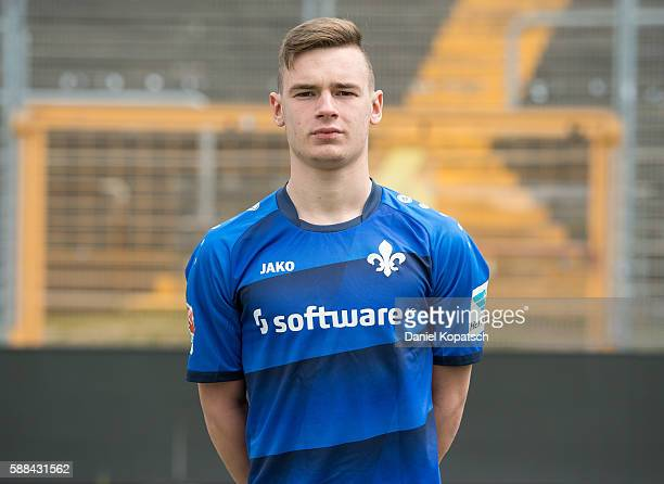 Daniel Thur poses during the Darmstadt 98 Team Presentation on August 11 2016 in Darmstadt Germany