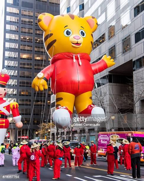 Daniel Tiger ballon during the 98th Annual 6abc/Dunkin' Donuts Thanksgiving Day Parade on November 23, 2017 in Philadelphia, Pennsylvania.
