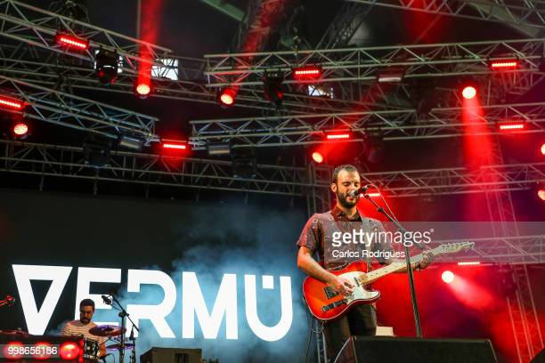 Daniel Toboso Berruga singer of the band Vermu performs during Day 1 of NOS Alive Festival 2018 on July 12 2018 in Lisbon Portugal