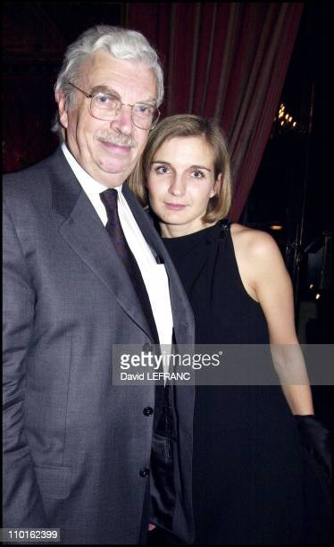 Daniel Toscan du Plantier and wife at Rendez vous with French cinema 2001 in New York United States on March 13 2001