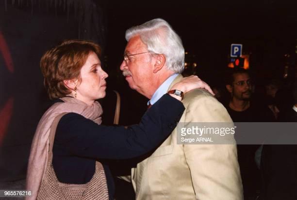 Daniel Toscan du Plantier et sa fille Ariane le 25 septembre 2000 à Paris France