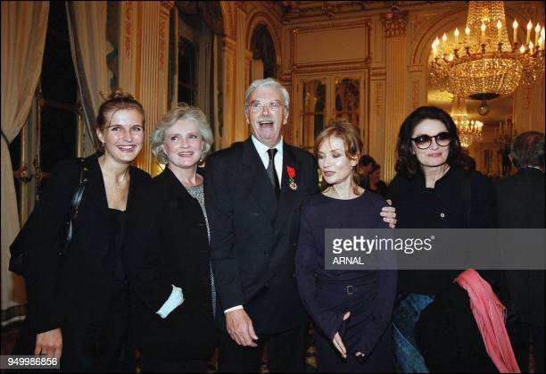Daniel Toscan du Plantier received French legion of honor by Catherine Tasca. Melita, Marie Christine Barrault, Daniel Toscan du Plantier, Isabelle...