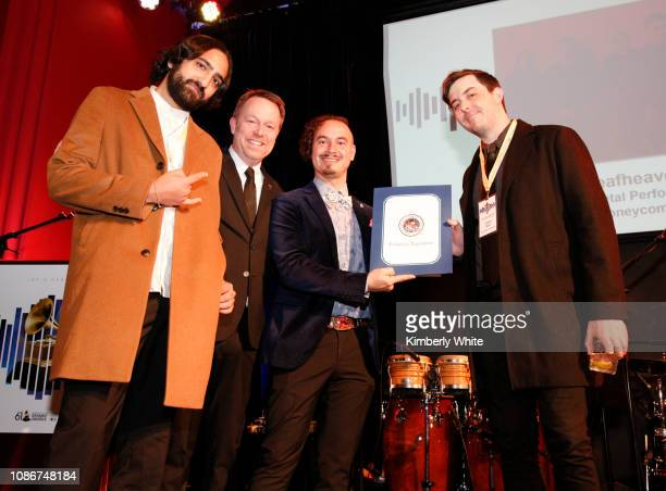 Daniel Tracy Michael Winger Camilo Landau and Shiv Mehra attend the SF Chapter GRAMMY Nominee Celebration on January 22 2019 in San Francisco...