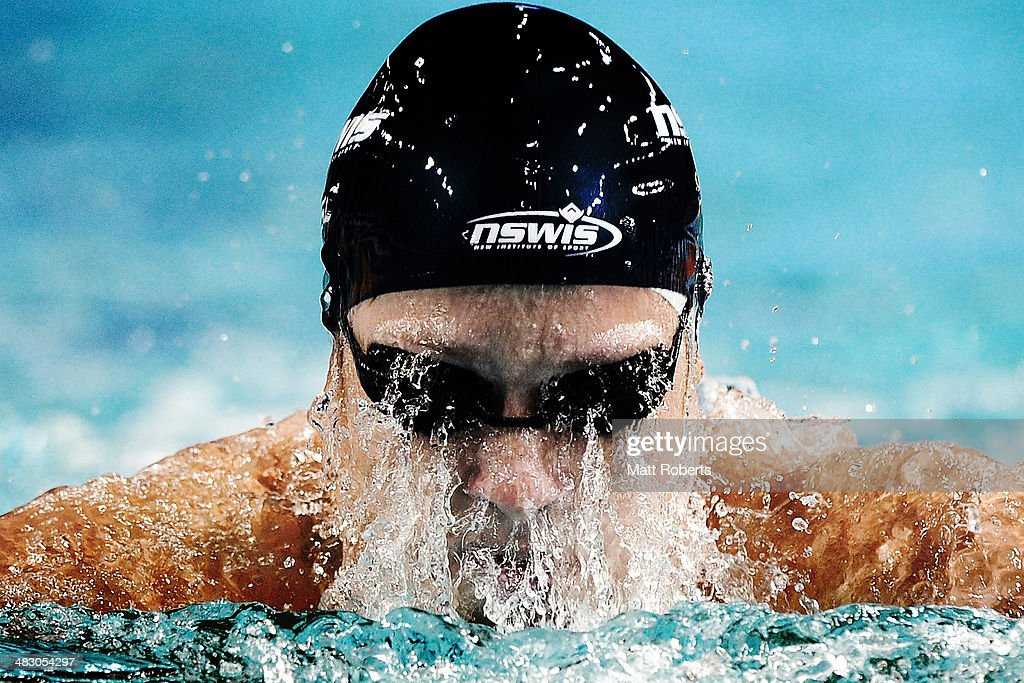 Daniel Tranter competes in the final of the Mens 200 metre Individual Medley event during the 2014 Australian Swimming Championships at Brisbane Aquatic Centre on April 6, 2014 in Brisbane, Australia.