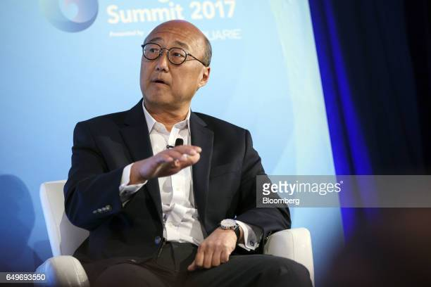 Daniel Tu group chief innovation officer for Ping An Insurance Group Co of China Ltd speaks during the Montgomery Summit in Santa Monica California...