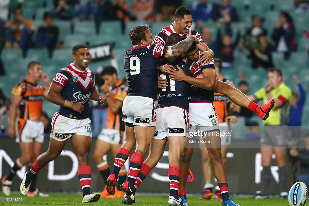 NRL Rd 9 -  Roosters v Wests Tigers : News Photo