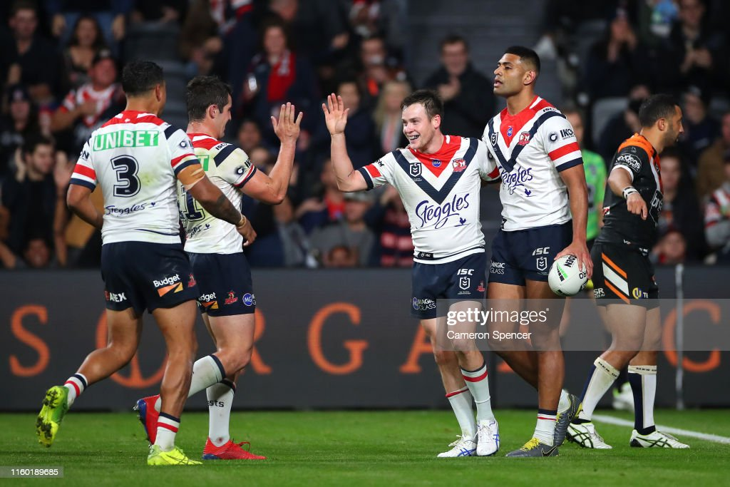 NRL Rd 16 - Tigers v Roosters : News Photo