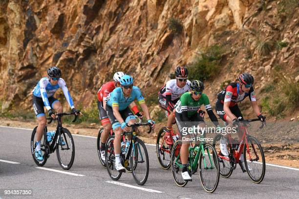 Daniel Turek of Czech Republic and Team Israel Cycling Academy / Andriy Grivko of Ukrania and Team Astana Pro Team / Antonio Molina of Spain and Team...