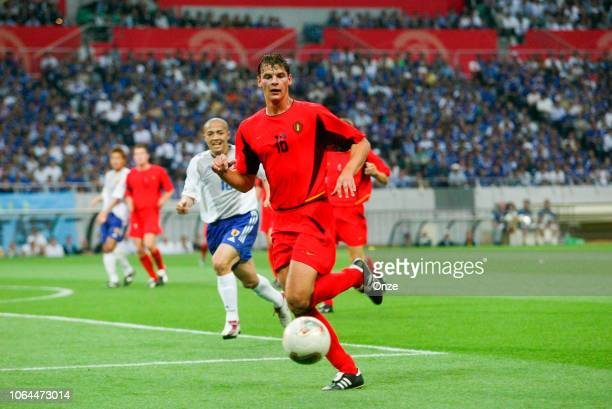 Daniel Van Buyten of Belgium during the World Cup match between Japan and Belgium in Saitama Stadium in Saitama Japan on June 4th 2002