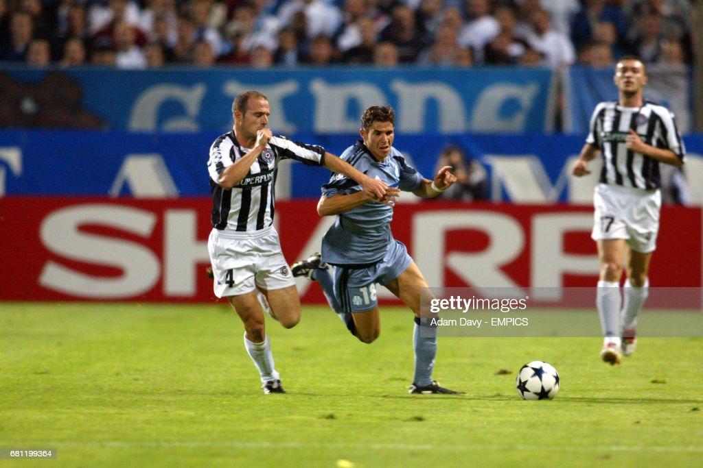 Soccer - UEFA Champions League - Group F - Olympique Marseille v Partizan Belgrade : Foto di attualità