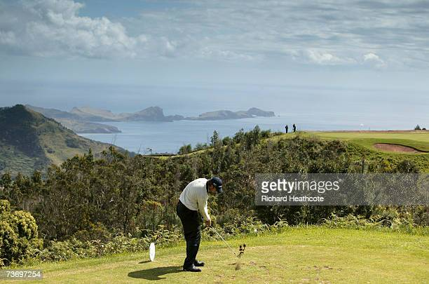 Daniel Vancsik of Argentina tee's off at the 4th during the final round of the Madeira Islands Open BPI 2007 at Clube De Golf Santo Da Serra on March...