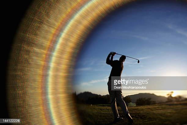 Daniel Vancsik of Argentina warms up on the driving range prior to Day One of the Madeira Islands Open at Santo da Serra Golf Course on May 10 2012...