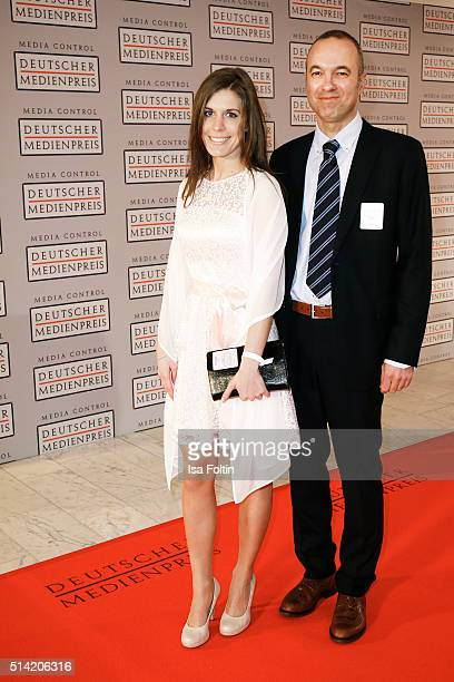 Daniel Varela Stander and guest attend the German Media Award 2016 on March 07 2016 in BadenBaden Germany