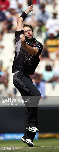 Daniel Vettori of New Zealand in action against India at The Wanderers Cricket Ground during The ICC World Twenty20 Championship on September 16 2007...