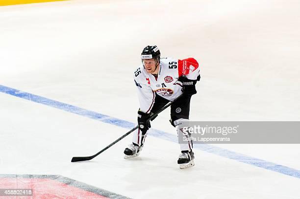 Daniel Vukovic of Geneve Servette ahead of the Champions Hockey League round of 16 second leg game between SaiPa Lappeenranta and Geneve-Servette at...