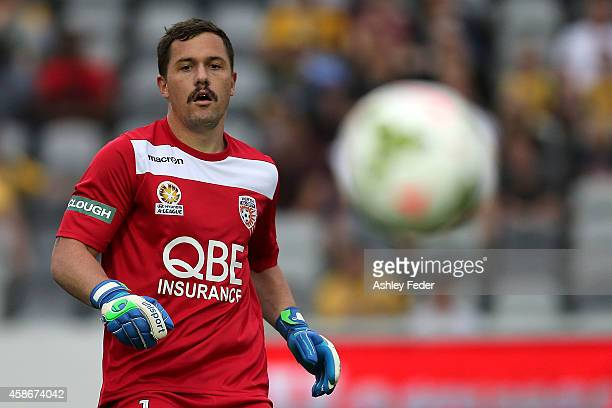 Daniel Vukovic of the Glory in action during the round five ALeague match between the Central Coast Mariners and the Perth Glory at Central Coast...