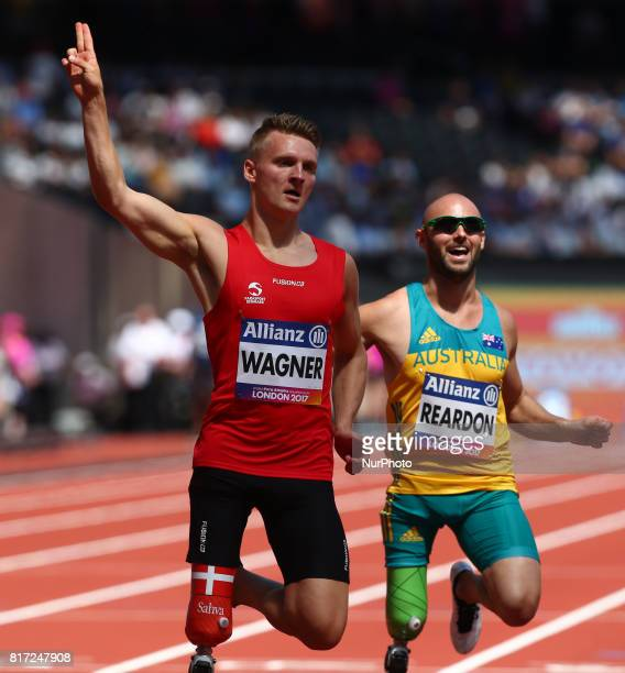 Daniel Wagner compete in Men's 100m T42 Round 1 Heat 2during IPC World Para Athletics Championships at London Stadium in London on July 17 2017