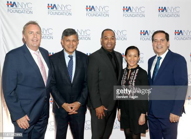 Daniel Waite Vijay Dandapani Rashib Thomas Guia Llamas and Fred Grapstein and guests attend The Red Carpet Hospitality Gala Hosted by the Hotel...
