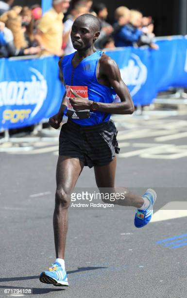Daniel Wanjiru of Kenya competes during the Virgin Money London Marathon on April 23 2017 in London England