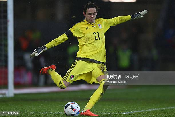Daniel Ward of Wales during the International Friendly match between Wales and Northern Ireland at Cardiff City Stadium on March 24 2016 in Cardiff...