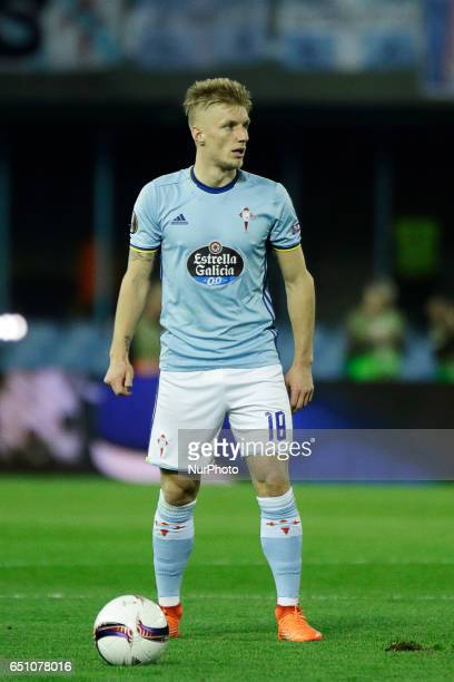 Daniel Wass midfielder of Celta de Vigo during the UEFA Europa League Round of 8 first leg match between Celta de Vigo and Krasnodar FC at Balaidos...