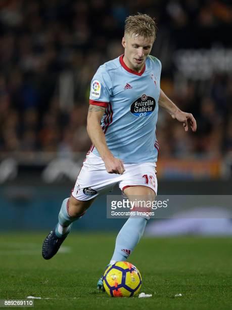 Daniel Wass of Celta de Vigo during the Spanish Primera Division match between Valencia v Celta de Vigo at the Estadio de Mestalla on December 9 2017...
