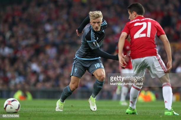 Daniel Wass of Celta Vigo in action during the UEFA Europa League semi final second leg match between Manchester United and Celta Vigo at Old...
