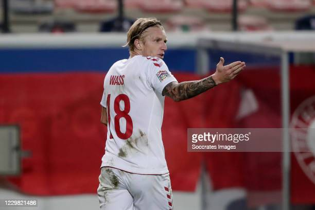 Daniel Wass of Denmark during the UEFA Nations league match between Belgium v Denmark at the King Baudouin Stadium on November 18, 2020 in Brussel...