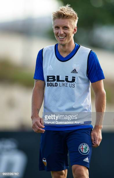 Daniel Wass of Valencia CF during training session at Paterna Training Centre on July 10 2018 in Valencia Spain