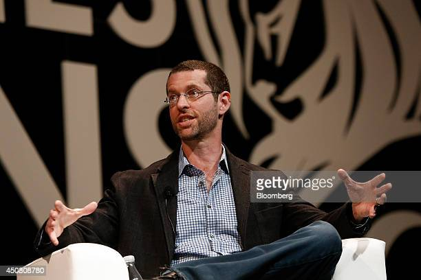 Daniel Weiss cocreator of television series Game of Thrones speaks at the Cannes Lions International Festival Of Creativity in Cannes France on...