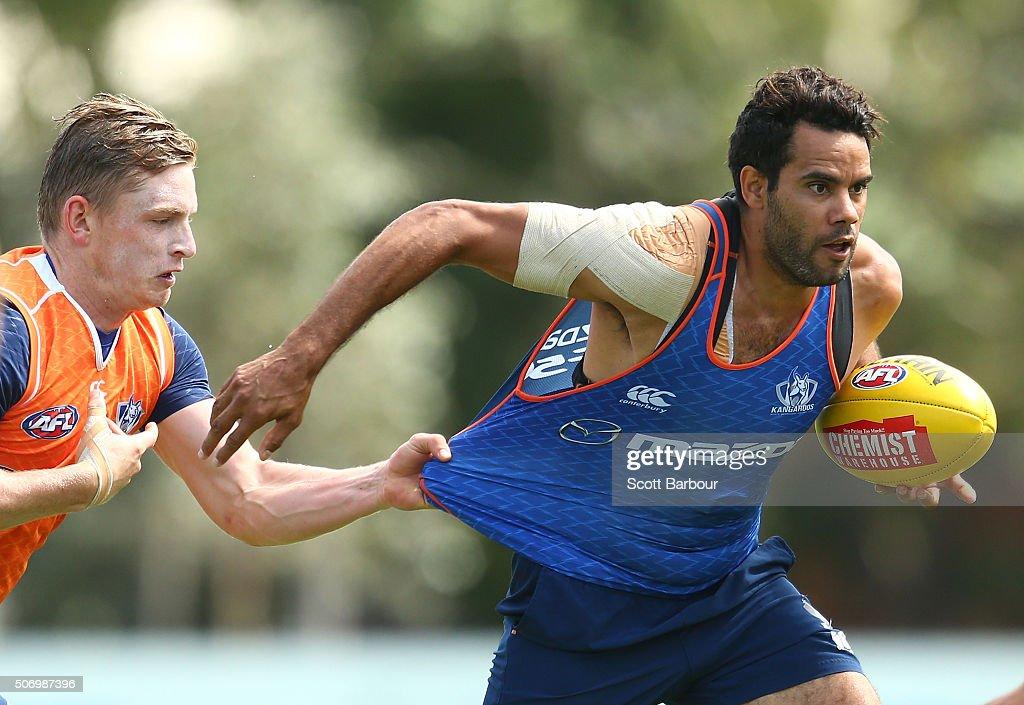 North Melbourne Kangaroos Media Opportunity & Training Session : News Photo