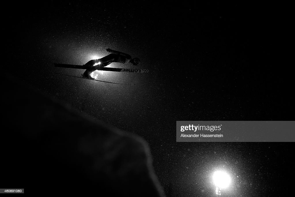 Daniel Wenig of Germany competes on day 2 of the Four Hills Tournament Ski Jumping event at Schattenberg-Schanze Erdinger Arena on December 29, 2014 in Oberstdorf, Germany.