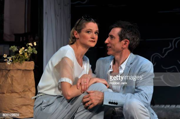 Daniel Weyman as Martin Wegner and Naomi Frederick as Gina Wegner in Daniel Kehlmann's The Mentor directed by Laurence Boswell at Vaudeville Theatre...