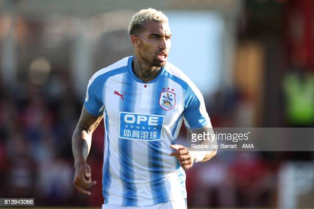 Daniel Williams of Huddersfield Town during the preseason friendly match between Accrington Stanley and Huddersfield Town at Wham Stadium on July 12...