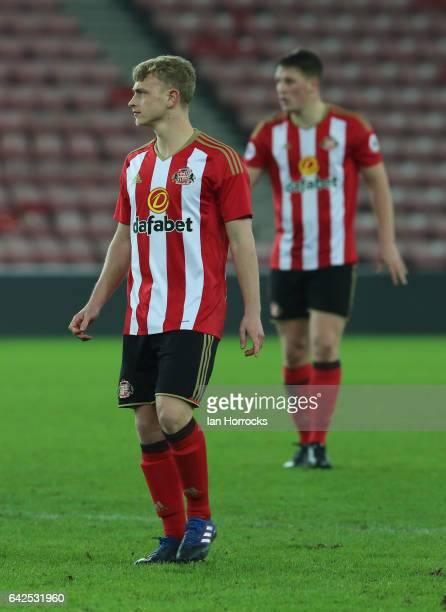 Daniel Wright of Sunderland during the Premier League International Cup Quarter Final match between Sunderland U23 and Athletic Bilbao U23 at the...