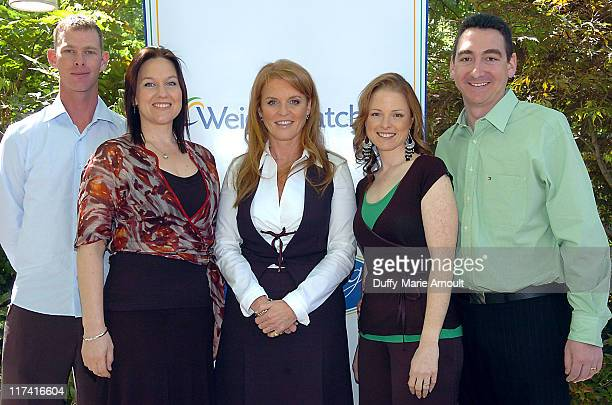 Daniel Wright, Rachel Wright, New Zealand grand prize winner of the 2006 Weight Watchers Inspiring Stories of the Year Contest, Sarah Ferguson,...