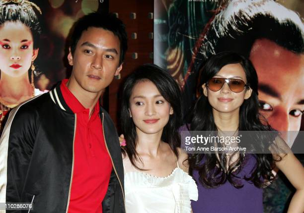 Daniel Wu Zhou Xun and Ziyi Zhang during 2006 Cannes Film Festival 'Banquet' Photocall at Majestic Hotel in Cannes France
