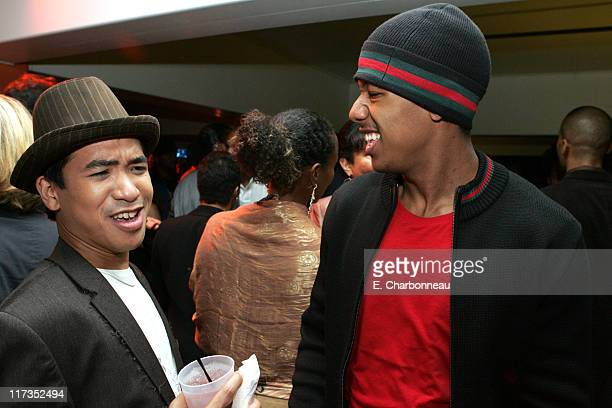 Daniel Yabut and Nick Cannon during FoxSearchlight Pictures Present the Los Angeles Premiere of Roll Bounce After Party at The Bridge at Howard...