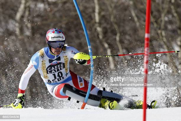 Daniel Yule of Switzerland competes during the Audi FIS Alpine Ski World Cup Finals Women's Giant Slalom and Men's Slalom on March 19 2017 in Aspen...