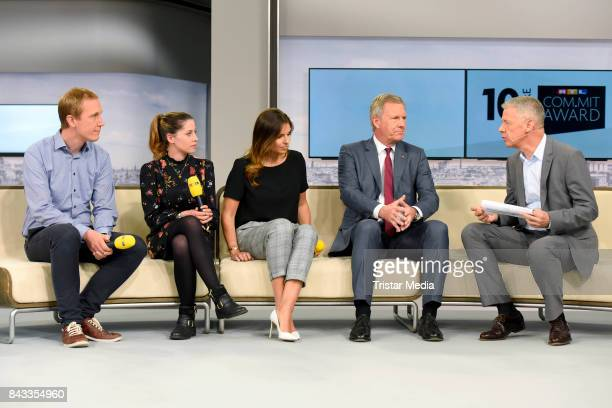 Daniel Zimmermann Valea Katharina Scalabrino Laura Wontorra Christian Wulff and Peter Kloeppel attend the 'RTL Commit' Award 2017 at Internationale...