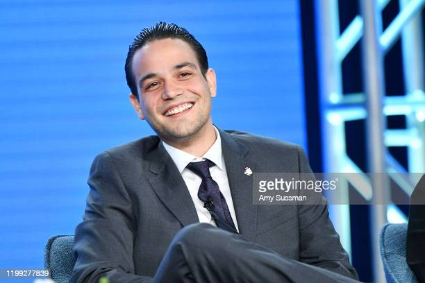 """Daniel Zovatto of """"Penny Dreadful: City of Angels"""" speaks during the Showtime segment of the 2020 Winter TCA Press Tour at The Langham Huntington,..."""