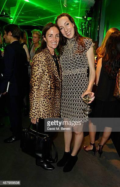 Daniela Agnelli and Iris van Herpen attend as Dutch couturier Iris van Herpen reveals 'Metamorphosis' her design collaboration with Dom Perignon at...