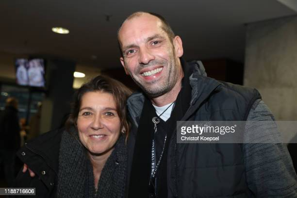 Daniela and Ralf Weber attend the Club Of Former National Players Meeting at Commerzbank Arena on November 19, 2019 in Frankfurt am Main, Germany.