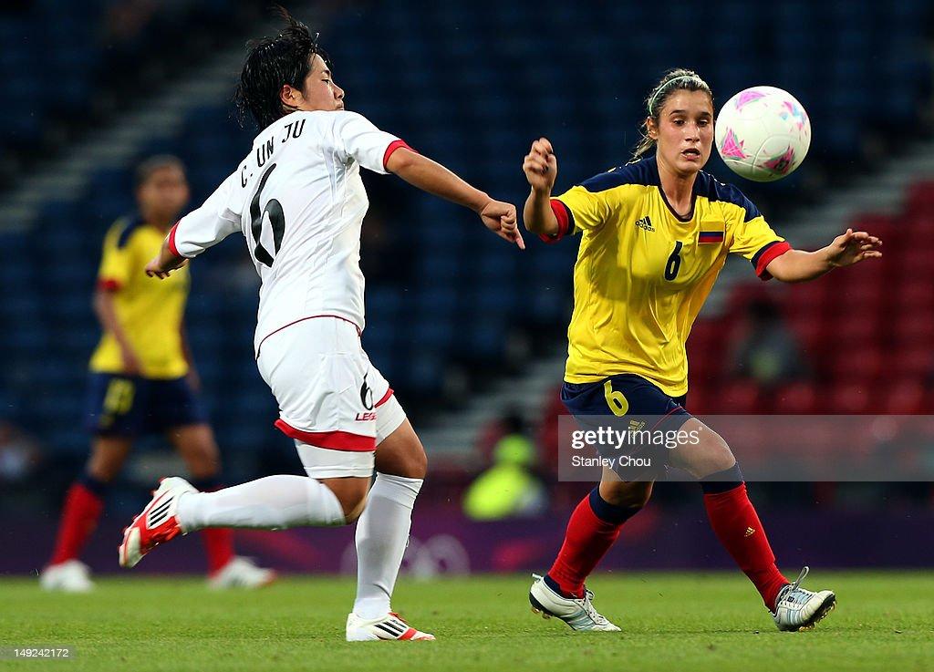 Olympics Day -2 - Women's Football - Colombia v Korea DPR : News Photo