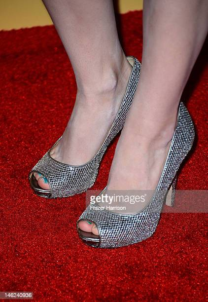 Daniela Bobadilla arrives at the 2012 Women In Film Crystal Lucy Awards at The Beverly Hilton Hotel on June 12 2012 in Beverly Hills California