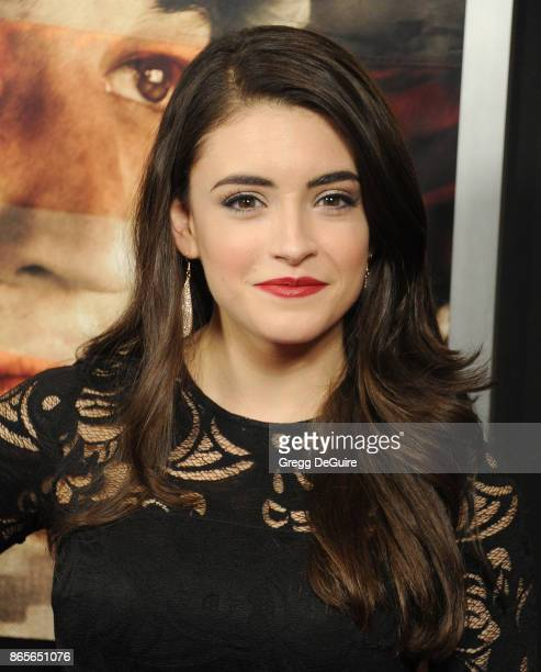 Daniela Bobadilla arrives at the premiere of DreamWorks Pictures and Universal Pictures' Thank You For Your Service at Regal LA Live Stadium 14 on...