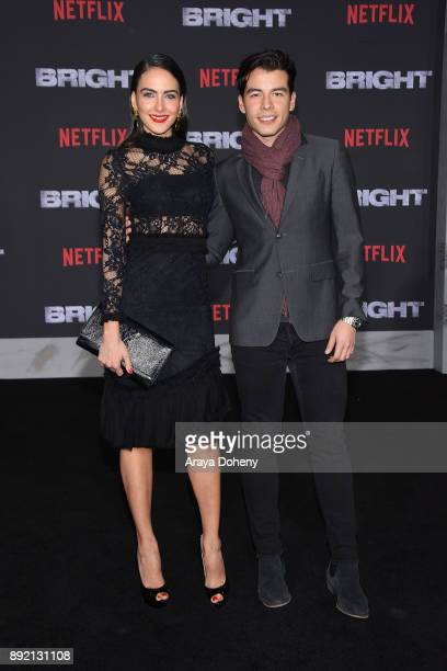 Daniela Botero and Manolo GonzalezRipoll Vergara attend the premiere of Netflix's Bright at Regency Village Theatre on December 13 2017 in Westwood...