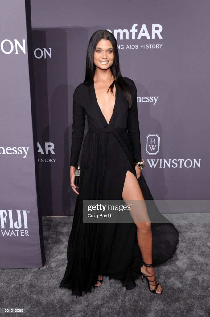 Daniela Braga attends the amfAR New York Gala 2017 sponsored by FIJI Water at Cipriani Wall Street on February 8, 2017 in New York City.